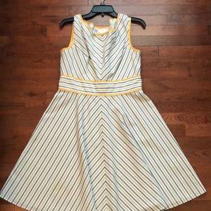Gray and White Chevron Summer Dress
